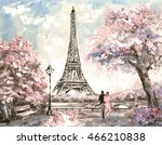 oil painting  street view of... | Shutterstock . vector #466210838