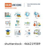 color thin line icons set. back ... | Shutterstock .eps vector #466219589