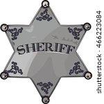 sheriff star isolated on white  ... | Shutterstock .eps vector #466223084