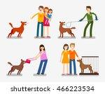 stray dog or abandoned dog. set ... | Shutterstock .eps vector #466223534
