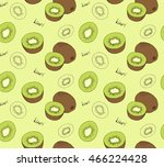hand drawn kiwi seamless... | Shutterstock .eps vector #466224428