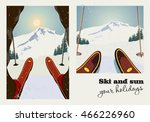 vintage vector poster of two... | Shutterstock .eps vector #466226960