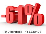discount 61 percent off. 3d... | Shutterstock . vector #466230479