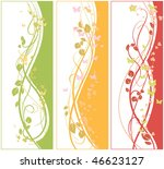 tree floral banners | Shutterstock .eps vector #46623127