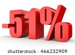 discount 51 percent off. 3d... | Shutterstock . vector #466232909
