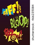 pixel words. retro game 8 bit | Shutterstock .eps vector #466235084