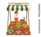 farm shop. local stall market.... | Shutterstock .eps vector #466238660