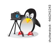 illustration of penguin with... | Shutterstock .eps vector #466241243