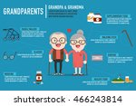 infographics retired elderly... | Shutterstock .eps vector #466243814