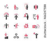 human resource icon set. | Shutterstock .eps vector #466247588