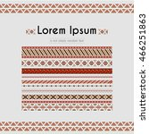 set of geometric maroon... | Shutterstock .eps vector #466251863