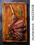 sliced grilled medium rare... | Shutterstock . vector #466253438