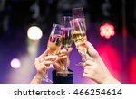 clinking glasses of champagne... | Shutterstock . vector #466254614