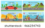 car   bicycle  motorbikes and... | Shutterstock .eps vector #466254743
