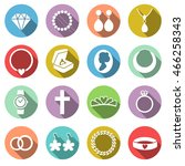vector set of jewelry icons.... | Shutterstock .eps vector #466258343