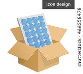 vector icon solar panel in post ... | Shutterstock .eps vector #466258478