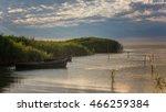 old fishing boats in danube... | Shutterstock . vector #466259384