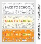 back to school doodle concept | Shutterstock .eps vector #466260350