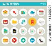 trendy detailed web icon set