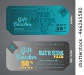 blank of gift voucher vector...   Shutterstock .eps vector #466261580