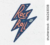 rock and roll lettering for t... | Shutterstock .eps vector #466263038