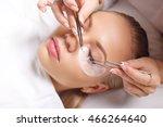 eyelash extension procedure....   Shutterstock . vector #466264640