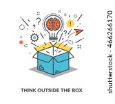 think outside the box | Shutterstock .eps vector #466266170