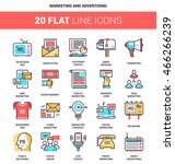 vector set of marketing and... | Shutterstock .eps vector #466266239