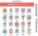 vector set of digital marketing ... | Shutterstock .eps vector #466266248