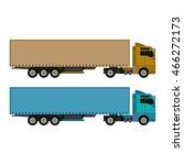 cargo truck vector illustration ... | Shutterstock .eps vector #466272173