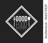 restaurant logo and badge...   Shutterstock .eps vector #466273529