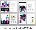 business abstract template... | Shutterstock .eps vector #466277144