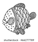 richly decorated fish vector... | Shutterstock .eps vector #466277789