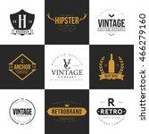 set of vintage logo and badge.... | Shutterstock .eps vector #466279160