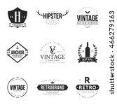 set of vintage logo and badge.... | Shutterstock .eps vector #466279163