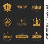 set of vintage logo and badge.... | Shutterstock .eps vector #466279166