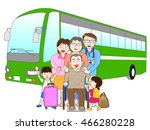 the trip by bus which is... | Shutterstock .eps vector #466280228