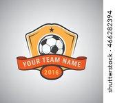 soccer logo design vector... | Shutterstock .eps vector #466282394