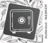 safe box doodle | Shutterstock .eps vector #466284359