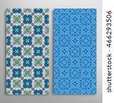 vertical seamless patterns set  ... | Shutterstock .eps vector #466293506