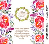 romantic invitation. wedding ...   Shutterstock . vector #466315094