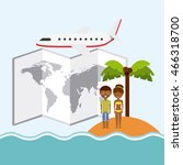 swimming and vacations concept... | Shutterstock .eps vector #466318700