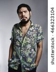 mafia smoking feeling serious...   Shutterstock . vector #466323104