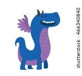 vector cartoon image of a funny ... | Shutterstock .eps vector #466340840