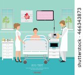 ecg test or the cardiac test ...   Shutterstock .eps vector #466343873