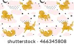 seamless patterns with cute... | Shutterstock .eps vector #466345808