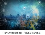 smart city and wireless... | Shutterstock . vector #466346468