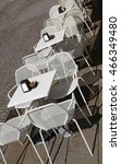 Small photo of alfresco tables and chairs of the European city