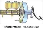 power brake system | Shutterstock .eps vector #466351850