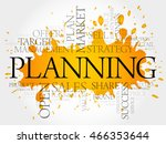 planning word cloud collage ... | Shutterstock .eps vector #466353644